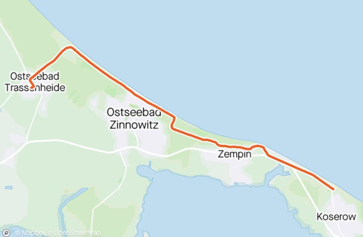 Radtour Trassenheide-Koserow